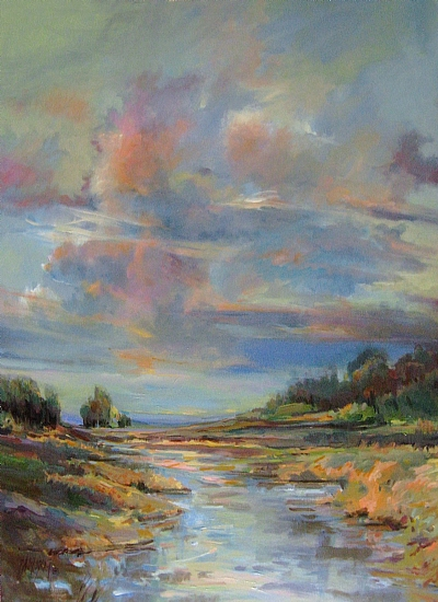 Big Sky Cloudscape by Mary Maxam Acrylic ~ 48 x 36