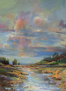 Big Sky Cloudscape by Mary Maxam Acrylic ~ 48 x 36