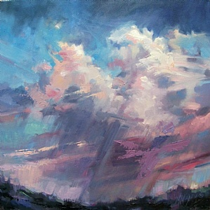 "Wind And Rain by Mary Maxam Oil ~ 18"" x 18"""