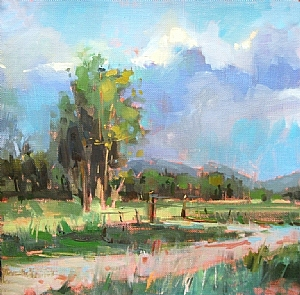 Country Road by Mary Maxam Oil ~ 8 x 8