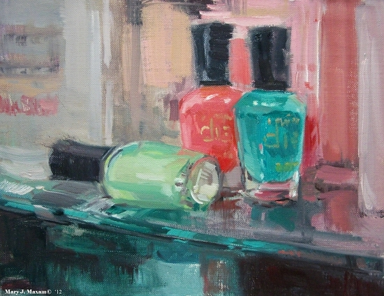 "Polish by Mary Maxam Oil ~ 7"" x 9"""