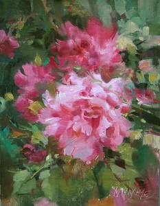 """Rouge by Mary Maxam Oil ~ 9"""" x 7"""""""