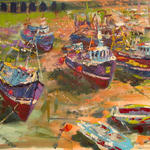 Zsuzsanna Pataki - The Power of Colours (boats and harbour scenes)