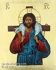 "Jesus the Good Shepherd by Caroline Furlong Acrylic ~ 10"" x 8"""