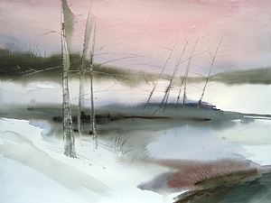 Snowdrift by Chuck McPherson Watercolor ~ 22 x 30