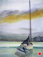 Bayside 6am by Chuck McPherson Watercolor ~ 27 x 19