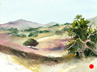 Warren Ranch, Escondido by Chuck McPherson Watercolor ~ 18 x 24