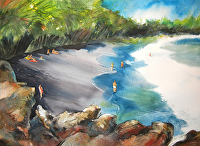 Puna's Jewel (Kehena, Hawaii) by Chuck McPherson Watercolor ~ 22 x 30