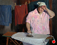 Laundry Day by Eric Bowman Oil ~ 24 x 30