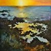 Sunset Lava Pools