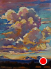 Cumulous Crescendo (above Three Sisters) by Janice Druian Oil ~ 24 x 18
