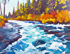 "Clear Turquoise (Metolius River) by Janice Druian Oil ~ 11"" x 14"""