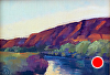 "6AM  on the Deschutes pochade by Janice Druian Oil ~ 5"" x 7"""