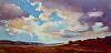 """Summer Storm, 12x24, Druian 2013 by Janice Druian Oil ~ 12"""" x 24"""""""