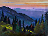 "Evening, Deep in the Cascades by Janice Druian Oil ~ 12"" x 16"""