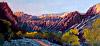 "Morning at the Phantom Ranch by Janice Druian Oil ~ 7"" x 14"""
