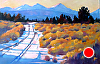 """Going Home the Back Way by Janice Druian Oil ~ 24"""" x 36"""""""
