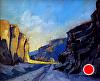 """Spllit Mountain Early Morning by Janice Druian Oil ~ 9"""" x 12"""""""