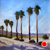 """The Palms at Indian Head unframed by Janice Druian Oil ~ 16"""" x 16"""""""
