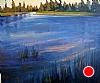 Deschutes River at Ponderosa Point by Janice Druian Oil ~ 38 x 42