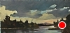 "Storm over Holms Rd. Pond by Janice Druian Oil ~ 8"" x 16"""