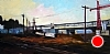 Rail Yards, Portland, Oregon by Janice Druian Oil ~ 8 x 16