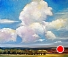 "Thunderheads Forming; Diamond, Oregon by Janice Druian Oil ~ 20"" x 24"""