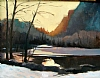 "Last Light Yosemite Valley by Janice Druian Oil ~ 11"" x 14"""