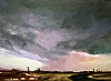 "Big Storm; Small town by Janice Druian Oil ~ 11"" x 14"""