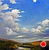 "Big Sky by Janice Druian Oil ~ 50"" x 50"""