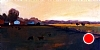 "Twilight In The Pasture by Janice Druian Oil ~ 10"" x 20"""