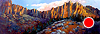 "Smith Rock From Canyons Ranch by Janice Druian Oil ~ 36"" x 76"""