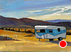 "Camping at Summer Lake, Druian 6x8 by Janice Druian Oil ~ 6"" x 8"