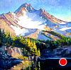 "Mt. Jefferson by Janice Druian Oil ~ 30"" x 30"""