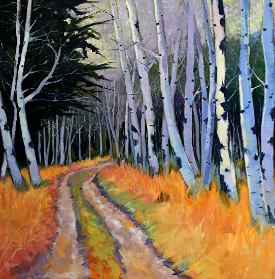 A Walk in the Woods - Oil