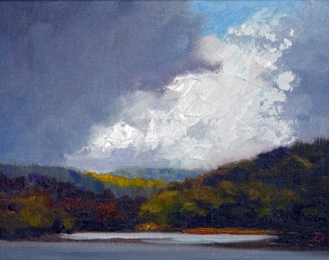 """Before the rains came. by Janice Druian Oil ~  x 8"""""""
