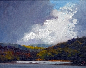 Before the rains came. by Janice Druian Oil ~  x 8""