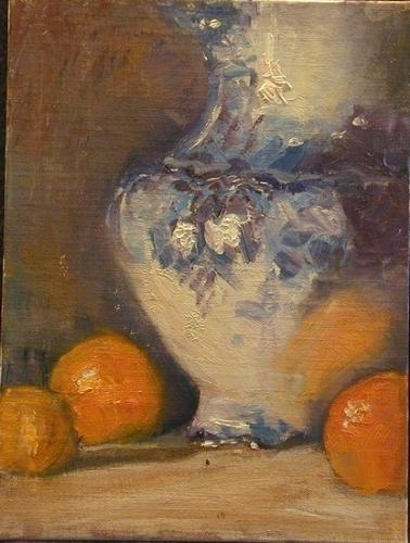 Orange Reflection - Oil