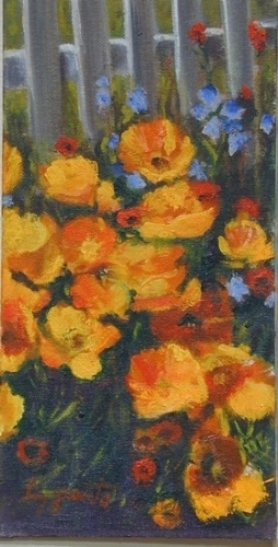 Yellow Poppies R - Oil
