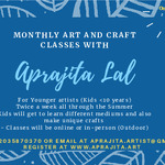 Aprajita Lal - Monthly Art classes for Young Artist