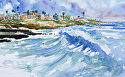 "Sunset Cliffs by William Dunn Watercolor ~ 12"" x 18"""