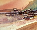 "Shodoshima by William Dunn Watercolor ~ 16"" x 20"""