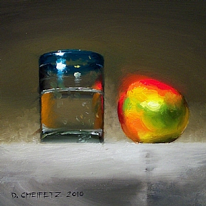 Mango & Agua by David Cheifetz Oil ~ 6 x 6