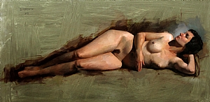 Nude Study: Jessica by David Cheifetz Oil ~ 12 x 24
