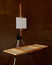Plein Air System set up by Art Box and Panel  ~  x