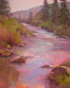 Crimson Morning by Janis Ellison Pastel ~ 20 x 16