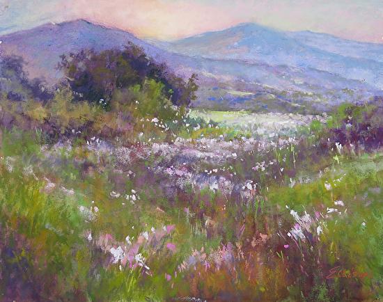 Spring Meadow - Pastel