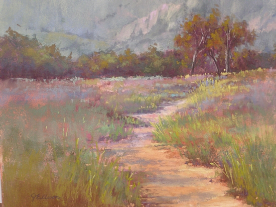 Los Carneros Morning by Janis Ellison Pastel ~ 11 x 14