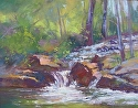 Lithia Creek by Janis Ellison Pastel ~ 11 x 15