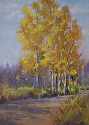 High Desert Aspens by Janis Ellison Pastel ~ 12 x 9